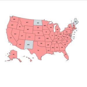 Other - Only 5 states left!